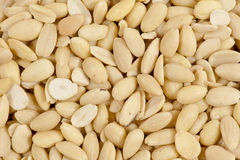 Peeled almonds Stock Photos