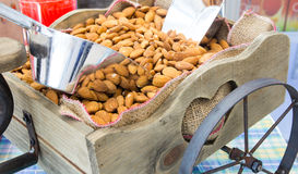 Peeled almonds Stock Photo