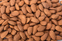 Peeled almonds closeup. For vegetarians. Royalty Free Stock Image
