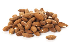 Peeled almonds isolated Stock Photography