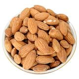 Peeled almonds kernels. Close-up view to peeled almonds kernels Royalty Free Stock Photography