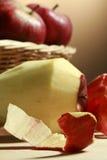 Peeled Apple stock image