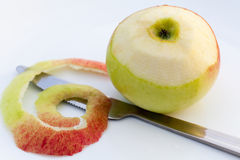 Peeled apple. Stock Image