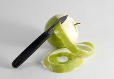 Peeled Apple Royalty Free Stock Photos