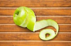 Peeled Apple Royalty Free Stock Photography