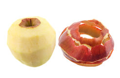 Peeled apple Stock Images