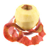Peeled apple Royalty Free Stock Images