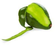 Peeled avocado. On white background Royalty Free Stock Photography