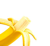 Peeled banana Royalty Free Stock Images