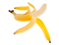 Peeled banana Stock Images
