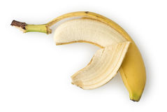 Peeled Banana. As Healthy and Nutritious Dietary Supplement Royalty Free Stock Photos