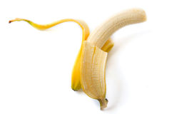 Peeled banana Royalty Free Stock Photo