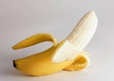 Peeled Banana. Ready for the Eating Peeled Banana Isolated on White Royalty Free Stock Image
