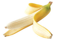 Peeled banana Royalty Free Stock Photography