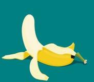 Peeled banana Stock Photography