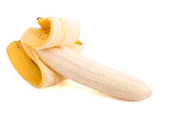 Peeled banana2 Royalty Free Stock Photo