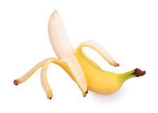 Peeled banana Stock Photos