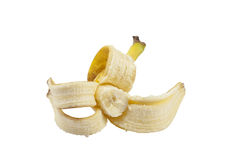 Peeled banana Stock Image