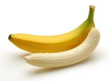Peeled Banana. Banana isolated on white background Royalty Free Stock Photo