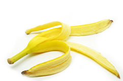 Peeled banana skin Royalty Free Stock Photography