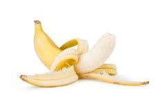 Peeled banana Stock Image