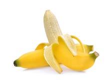 Peeled banana  on white. Background Stock Photography