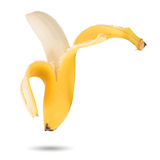 Peeled Banana. On a white background with shadow Royalty Free Stock Photography