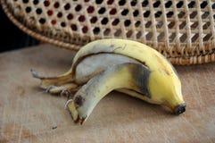 Peeled black banana Royalty Free Stock Photo