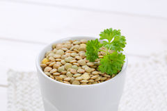 Peeled brown lentils Royalty Free Stock Images