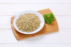 Peeled brown lentils Stock Image