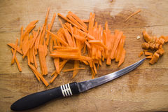 Peeled carrot Royalty Free Stock Image