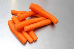 Peeled carrots Royalty Free Stock Images
