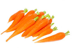 Peeled carrots on white Stock Photography