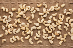Peeled cashew Royalty Free Stock Images