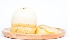 Peeled Chinese pear on white background Stock Photography