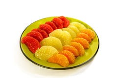 Peeled citrus segments Royalty Free Stock Image