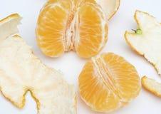 Peeled clementine Stock Photo
