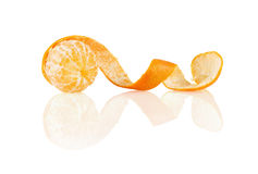 Peeled clementine Stock Photo