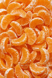 Peeled clementine wedges Stock Photos