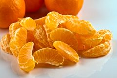 Peeled Clementines Stock Image