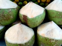 Peeled Coconut Pile Stock Photography