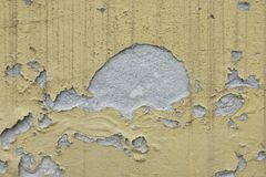 Peeled color on the wall Royalty Free Stock Photo