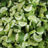 Peeled cucumber Stock Images
