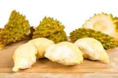 Peeled durian  fruit with peel Royalty Free Stock Photos