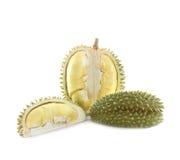 Peeled durian isolated. Stock Photos