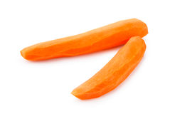 Peeled fresh carrots Stock Photography
