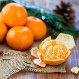 Peeled Fresh Clementine Tangerine Stock Images
