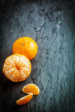 Peeled fresh clementine or tangerine Royalty Free Stock Photos