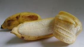 Peeled  fresh sugar banana Royalty Free Stock Image