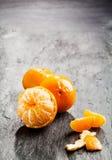 Peeled fresh sweet nectarine Stock Photos